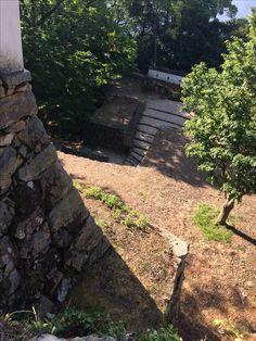 備中松山城 石垣を上から 2017.05.20