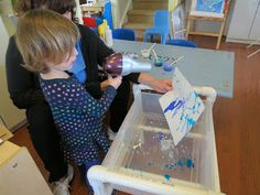 Kozy Kids Family Childcare: Windy Paintings and A Little Mud