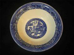 "VTG 1948 Homer Laughlin USA Blue Willow L48N6 8 1/2"" Round Bowl"