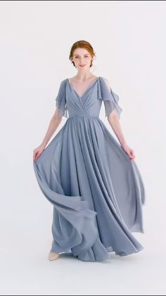 new arrival dusty blue bridesmaid dresses 2019 We share the most beautiful and new dress patterns fo Dusty Blue Bridesmaid Dresses, Blue Dresses, Short Dresses, Prom Dresses, Dusty Blue Dress, Dress Prom, Dress Wedding, Dress Long, Dress Outfits
