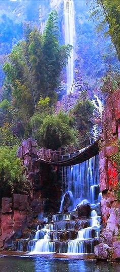 Misol-Ha Waterfall in Chiapas, Mexico Iguazu Falls, Brazil Mystic Falls, Costa Rica Napali Cliffs, Kauai, Hawaii Rhine Fall...