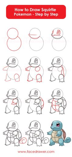 You like the cute Squirtle Pokemon? Learn how to draw Squirtle from Pokemon. Just follow along teh easy steps and learn how to draw Squirlte.