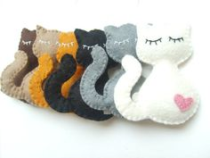 Felt cat ornament handmande felt ornaments by grabacoffee