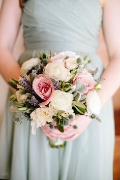 #bouquet    Read More: http://www.stylemepretty.com/little-black-book-blog/2014/01/14/classic-mint-pink-pelican-hill-wedding/