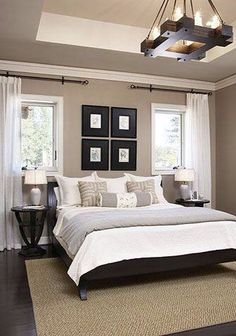 I love the natural lighting in this beautiful master bedroom