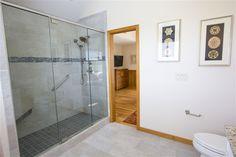 Master Bathroom shower in the oceanfront remodel in Southern Shores, NC Master Bathroom Shower, Custom Homes, Alcove, Southern, Bathtub, Standing Bath, Bathtubs, Bath, Bath Tub