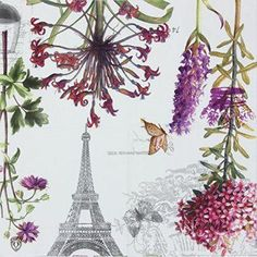Alink Paper Napkins Paris Eiffel Design Luncheon Party Napkins Serviettes, 20 Count, 13 Paris home décor is cute, trendy and adorable.  In fact, it is perfect for anyone who has or wants to visit Pairs.  Paris themed home décor is really trendy and popular all over the world.  For this reason, I really love Paris wall art, Eiffel Tower bedding not to mention other cute Parisian decorative accents.  Any room of your home living room, bedroom, kitchen, and even bathrooms can look charming…