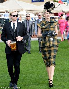 Top notch tartan: A lady in a Vivienne Westwood inspired ensemble