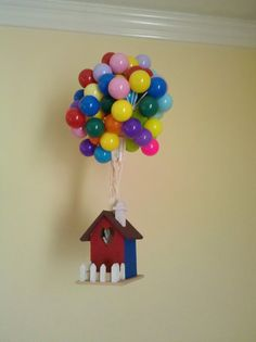 Balloon House Decoration Styled After Disney Pixar