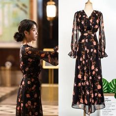 Feeling lavish and extravagant? Be like Jang Man Wol, the CEO of Hotel Del Luna, who loves fancy things just like this dress. Get this latest item inspired from newest Korean Drama Hotel Del Luna to complete your posh look! Luna Fashion, Fashion Line, Pop Fashion, Modest Fashion, Girl Fashion, Fashion Outfits, Classy Outfits, Cute Outfits, Uniqlo Women Outfit