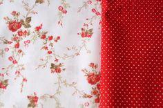 Floral vermelho e poá