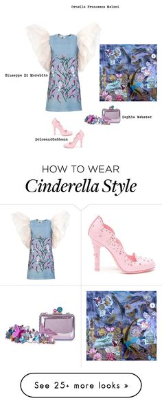 """Like a butterfly"" by orme on Polyvore featuring Sophia Webster and Dolce&Gabbana"