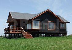 Modern Tiny House, Tiny House Cabin, Cabin Homes, Cottage Homes, Cottage House Designs, Tiny House Design, Country House Plans, Small House Plans, Casas Containers