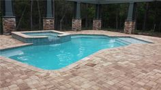 Image result for beautiful pools with raised spas