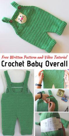 Baby Romper Pattern, Crochet Baby Dress Pattern, Baby Knitting Patterns, Baby Patterns, Crochet Boys Sweater Pattern Free, Baby Boy Knitting, Crochet Diy, Crochet For Boys, Crochet Baby Clothes Boy