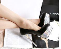 Style Paillette Embellished Hight Heel
