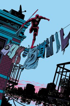 Chris Samnee's hidden title on the cover of Daredevil #26. | The 30 Greatest…