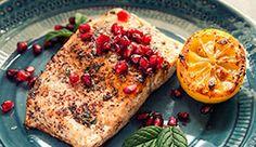 Pomegranate Salmon with pomegranate molases