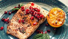 Pomegranate Salmon with pomegranate molases