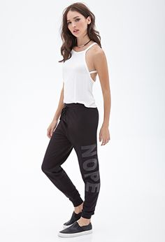 Nope Graphic Sweatpants | FOREVER21 - 2000056513