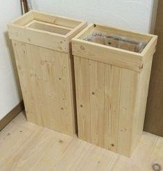 袋が見えない(#^^#) 木製ゴミ箱を作ろう(^^) - 見た目重視。DIYインテリア
