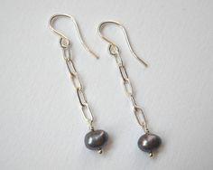 Peacock Pearl Earrings  Sterling Silver by VeronicaRussekJoyas