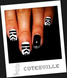 stormtrooper nail art  They sell nail art pens at Target.  Might have to try