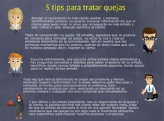 5 tips para tratar #quejas #infografía
