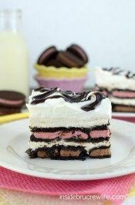 Oreo Banana Split Ice Box Cake photo