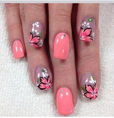 Let orange with floral design