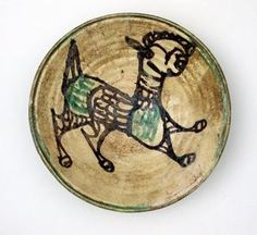 Bowl with Lamb (restored) Late Byzantine 13th century ceramic