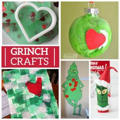 How The Grinch Stole Christmas is one of our favorite holiday stories. Here's 25 Grinch Crafts & Sweet Treats we love, all inspired by the lovable Grinch! Christmas Family Feud, Grinch Christmas Party, Grinch Who Stole Christmas, Grinch Party, Merry Christmas, Christmas Door, Xmas Party, Christmas 2019, Fun Crafts For Kids