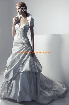 2013 Neue Brautkleider für Prinzessin aus Satin Meerjungfrau Herzausschnitt mit Schleppe