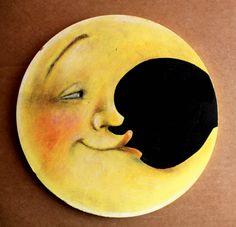 Luna da appendere dove vuoi. di ilcaloredeicolori su Etsy