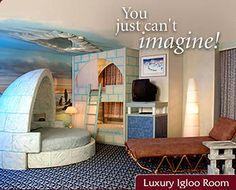 Edmonton's Fantasyland Hotel - Igloo Room