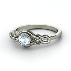 Aquamarine Sailor's knot ring - if I didn't already have an engagement ring this would have been it.
