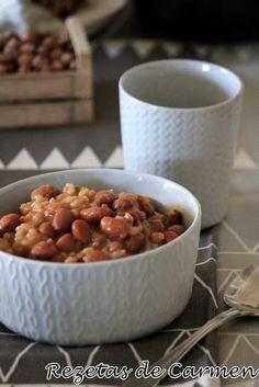rezetas de carmen: Alubias pintas con arroz en crockpot (slow cooker)