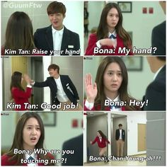 Kim Tan & Lee Bo Na ~ HEIRS Loved this scene it was adorable
