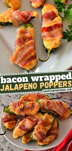 Get ready to have your taste buds tantalized by Bacon Wrapped Jalapeno Poppers! This New Year party appetizer is sure to be a hit. Prepare this recipe in advance for easy holiday entertaining! You might want to double the batch – they are one of the first to disappear! Bacon Wrapped Jalapeno Poppers, Stuffed Jalapenos With Bacon, Stuffed Peppers, Jalapeno Bacon, Easy Family Meals, Easy Meals, Family Recipes, Yummy Appetizers, Appetizer Recipes