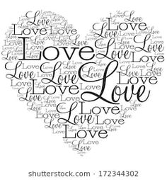 Love Word Vector Images (over - Page 13 Machine Silhouette, Gravure Laser, Foto Transfer, Card Sentiments, Love Words, Love Heart, Word Art, Coloring Pages, Clip Art