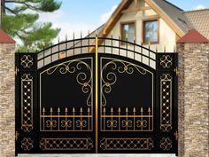Iron Main Gate Design, Wrought Iron Gate Designs, Gate Wall Design, Grill Gate Design, House Main Gates Design, Steel Gate Design, Front Gate Design, Pooja Room Door Design, Window Grill Design