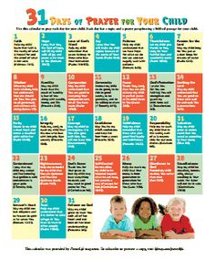 31 days of prayer with your child