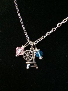 Beaded Sleeping Beauty Inspired Necklace by byAmandaJane on Etsy, $15.00