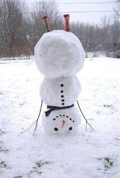 Headstand snowman