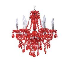 Red chandelier... <3