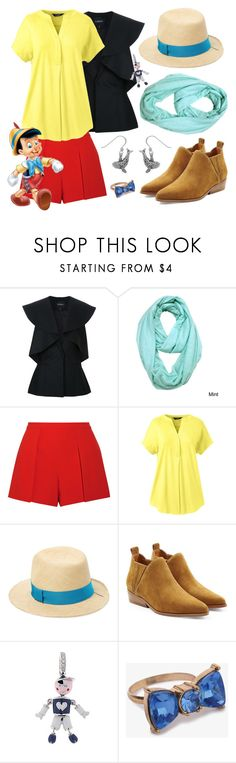 """""""Pinnochio"""" by megdelaina ❤ liked on Polyvore featuring Goen.J, Le Nom, Alice + Olivia, Lands' End, House of Lafayette, Kendall + Kylie, Aaron Basha, Forever 21, Carolina Glamour Collection and disney"""