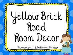 Yellow Brick Road Room Decor Pack | Edworld Exchange | Where Educators Buy and Sell Resources