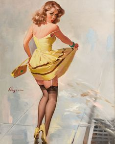 Pin up with yellow dress