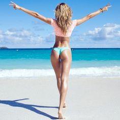 candice vs instagram3 Candice Swanepoel, Magdalena Frackowiak & Doutzen Kroes BTS at VS Swim 2014 Shoot