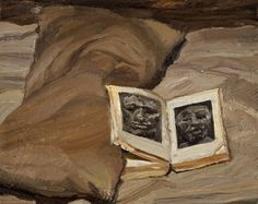 Lucian Freud (British, 1922-2011), Still Life with Book, 1991-92. Oil on canvas, 19 x 24.2 cm.
